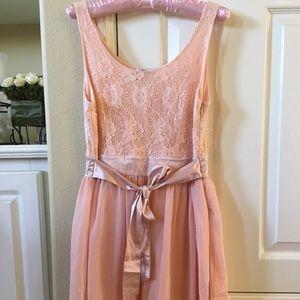 Pinky lace and chiffon dress